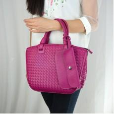 กระเป๋าหนังแท้ผู้หญิง หนังสานสวยถือหรูมากแฟชั่นแบรนด์ นำเข้าพิเศษ สีโรส - พรีออเดอร์IS1069  ราคา4900บาท