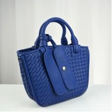 กระเป๋าหนังแท้ผู้หญิง หนังสานสวยถือหรูมากแฟชั่นแบรนด์ นำเข้าพิเศษ สีน้ำเงิน - พรีออเดอร์IS1069  ราคา4900บาท