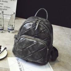 กระเป๋าเป้หนังสาน แฟชั่นเกาหลีสะพายหลังเดินทางสวยแนววินเทจ นำเข้า สีเทา - พรีออเดอร์IS1073 ราคา1350บาท