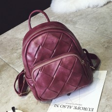 กระเป๋าเป้หนังสาน แฟชั่นเกาหลีสะพายหลังเดินทางสวยแนววินเทจ นำเข้า สีแดงเข้ม - พรีออเดอร์IS1073 ราคา1350บาท