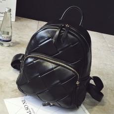 กระเป๋าเป้หนังสาน แฟชั่นเกาหลีสะพายหลังเดินทางสวยแนววินเทจ นำเข้า สีดำ - พรีออเดอร์IS1073 ราคา1350บาท