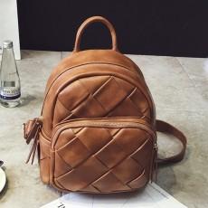 กระเป๋าเป้หนังสาน แฟชั่นเกาหลีสะพายหลังเดินทางสวยแนววินเทจ นำเข้า สีน้ำตาล - พรีออเดอร์IS1073 ราคา1350บาท