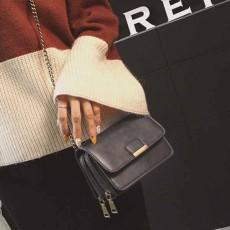 กระเป๋าหนังใบเล็กแฟชั่นเกาหลี ถือวินเทจคลัทช์มีสายโซ่สะพายยาว นำเข้า สีเทา - พรีออเดอร์IS1074 ราคา1300บาท