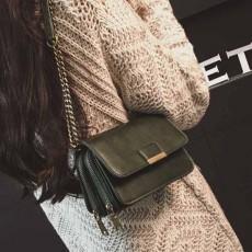 กระเป๋าหนังใบเล็กแฟชั่นเกาหลี ถือวินเทจคลัทช์มีสายโซ่สะพายยาว นำเข้า สีเขียว - พรีออเดอร์IS1074 ราคา1300บาท