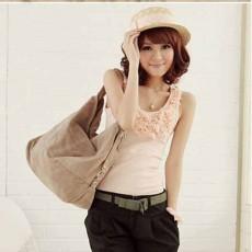 กระเป๋าสะพายข้าง แฟชั่นเกาหลีผู้หญิงใบใหญ่สไตล์หนังกลับมีสายยาวสวยน่ารัก นำเข้า สีครีม - พร้อมส่งIS157 ราคา900บาท