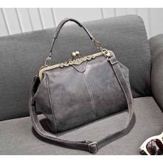 กระเป๋าสะพาย แฟชั่นเกาหลีผู้หญิงหนังกลับวินเทจถือสายสั้นหรูแบบใหม่น่ารัก นำเข้า สีเทา - พรีออเดอร์IS505 ราคา900บาท