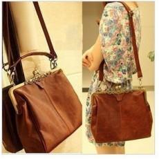 กระเป๋าสะพาย แฟชั่นเกาหลี วินเทจ ใหม่สวย นำเข้า สีน้ำตาล - พร้อมส่งIS505 ราคา1250บาท