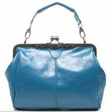 กระเป๋าสะพาย แฟชั่นเกาหลี แนววินเทจใหม่เป็นกระเป๋าแบบสวยที่สุดถือได้ นำเข้า สีฟ้า - พรีออเดอร์IS505 ราคา900บาท