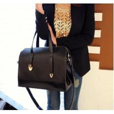 กระเป๋าสะพาย แฟชั่นเกาหลี ผู้หญิงสวยหรูถือก็เก๋ใช้ทำงานเด่นมาก นำเข้า สีดำ - พรีออเดอร์IS901 ราคา850บาท