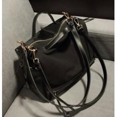 กระเป๋าสะพาย แฟชั่นเกาหลี ผู้หญิงใบใหญ่สวยถือก็หรูผสมหนังกลับ นำเข้า สีดำ - พรีออเดอร์IS904 ราคา970บาท