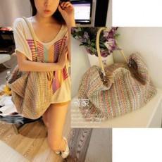 กระเป๋าสะพายข้าง แฟชั่นเกาหลี ผู้หญิงเทรนสวยใบใหญ่จุของเยอะ นำเข้า สีผสม - พร้อมส่งIS911 ราคา770บาท