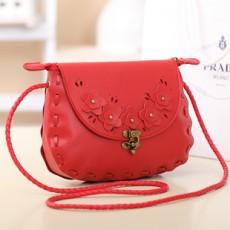 กระเป๋าสะพายข้าง แฟชั่นเกาหลีสวยใบเล็กแนววินเทจ นำเข้า สีแดง - พรีออเดอร์IS953 ราคา850บาท