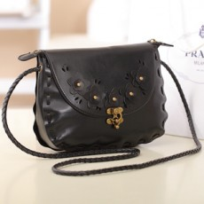 กระเป๋าสะพายข้าง แฟชั่นเกาหลีสวยใบเล็กแนววินเทจ นำเข้า สีดำ - พรีออเดอร์IS953 ราคา850บาท