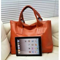 กระเป๋าสะพายข้างผู้หญิง สวยแนววินเทจแฟชั่นใบใหญ่ นำเข้า สีน้ำตาล - พร้อมส่งIS970 ราคา790บาท [หมดค่ะ]