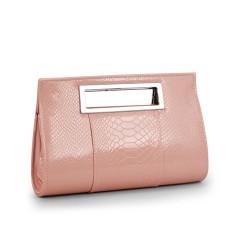 กระเป๋าถือ แฟชั่นเกาหลีแบบกระเป๋าคลัชมีสายสะพายยาวหรูมาก นำเข้า สีชมพู - พร้อมส่งIS986 ราคา850บาท [หมดค่ะ]