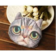 กระเป๋าสตางค์รูปแมว แฟชั่นเกาหลีใส่เงินเหรียญน่ารัก นำเข้า สีเทา - พร้อมส่งIS988 ราคา250บาท