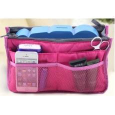 กระเป๋าจัดระเบียบ ช่องเยอะถือได้สไตล์แฟชั่นเกาหลีรุ่นใหม่ นำเข้า สีชมพู - พร้อมส่งIS997 ราคา220บาท