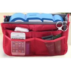 กระเป๋าจัดระเบียบ ช่องเยอะถือได้สไตล์แฟชั่นเกาหลีรุ่นใหม่ นำเข้า สีแดง - พร้อมส่งIS997 ราคา220บาท