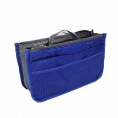 กระเป๋าจัดระเบียบ ช่องเยอะถือได้สไตล์แฟชั่นเกาหลีรุ่นใหม่ นำเข้า สีน้ำเงิน - พร้อมส่งIS997 ราคา220บาท