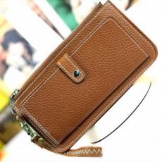 กระเป๋าสตางค์ผู้หญิง แบบบางยาว2พับสไตล์แฟชั่นเกาหลีรุ่นใหม่ นำเข้า สีน้ำตาล - พร้อมส่งIS999 ราคาถูก 300 บาท