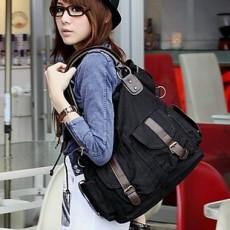 กระเป๋าสะพาย ข้างแฟชั่นเกาหลี ผู้หญิงผ้าคานวาสใบใหญ่ สวยขายดี นำเข้า สีดำ - พร้อมส่งIS185 ราคา850บาท
