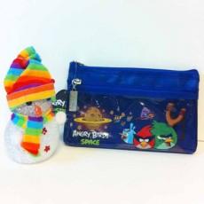 กระเป๋าดินสอ Angry Birds Space ตะลุยอวกาศลิขสิทธิ์ของแท้ นำเข้า สีน้ำเงิน - พร้อมส่งIS102 ราคา150บาท