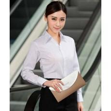 เสื้อเชิ้ตแขนยาว ทำงานแฟชั่นเกาหลีผู้หญิงไซส์คนอ้วนใหญ่พิเศษ นำเข้า ไซส์S-4XL สีขาว - พรีออเดอร์KD1610 ราคา1150บาท