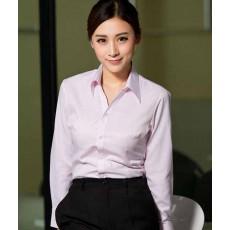 เสื้อเชิ้ตแขนยาว ทำงานแฟชั่นเกาหลีผู้หญิงไซส์คนอ้วนใหญ่พิเศษ นำเข้า ไซส์S-4XL สีขาวลายทางชมพู - พรีออเดอร์KD1611 ราคา1150บาท