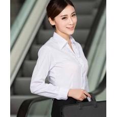 เสื้อเชิ้ตแขนยาว ทำงานแฟชั่นเกาหลีผู้หญิงไซส์คนอ้วนใหญ่พิเศษ นำเข้า ไซส์S-4XL สีขาว - พรีออเดอร์KD1832 ราคา1150บาท