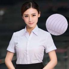 เสื้อเชิ้ต ทำงาน แฟชั่นเกาหลี แขนสั้น ชุดฟอร์มพนักงานบริษัท นำเข้า ไซส์S-5XL ลายทางสีม่วง - พรีออเดอร์KD2603 ราคา870บาท