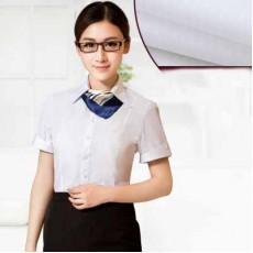 เสื้อเชิ้ตแขนสั้น ทำงานแฟชั่นเกาหลีผู้หญิงไซส์คนอ้วนใหญ่พิเศษ นำเข้า ไซส์S-5XL สีขาว - พรีออเดอร์KD2604 ราคา1150บาท