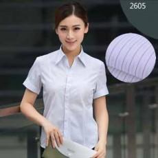 เสื้อเชิ้ตแขนสั้น ทำงานแฟชั่นเกาหลีผู้หญิงไซส์คนอ้วนใหญ่พิเศษ นำเข้า ไซส์S-5XL ลายทางสีฟ้า - พรีออเดอร์KD2605 ราคา1150บาท