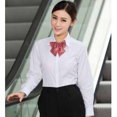 เสื้อเชิ้ตแขนยาว ทำงานแฟชั่นเกาหลีผู้หญิงไซส์คนอ้วนใหญ่พิเศษ นำเข้า ไซส์S-4XL สีขาว - พรีออเดอร์KD2904 ราคา1150บาท