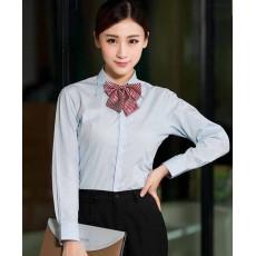 เสื้อเชิ้ตแขนยาว ทำงานแฟชั่นเกาหลีผู้หญิงไซส์คนอ้วนใหญ่พิเศษ นำเข้า ไซส์S-4XL สีฟ้า - พรีออเดอร์KD2905 ราคา1150บาท