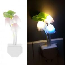 โคมไฟ LED รูปเห็ด ขนาดเล็กมีเซ็นเซอร์วัดแสง เสียบปลั๊กหมดกังวลเรื่องถ่านหมด แสงสีรุ้งและเปลี่ยนสีไปเรื่อยๆเองอัตโนมัติ สำหรับคอนโด ห้องนั่งเล่น พร้อมส่งMNLL001 ราคา250บาท
