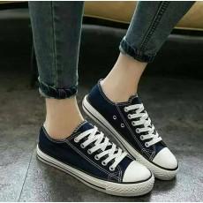 รองเท้าผ้าใบส้นหนาคัทชูอินเทรนด์แฟชั่นเกาหลีทันสมัย นำเข้า ไซส์37-38 สีน้ำเงิน พร้อมส่งBS0122 ราคา650บาท