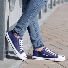 รองเท้าผ้าใบ แฟชั่นเกาหลีส้นเตี้ยใส่ได้ทุกคน นำเข้า ไซส์35ถึง43 สีน้ำเงิน - พรีออเดอร์MA3012 ราคา850บาท