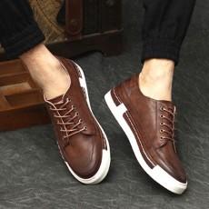 รองเท้าหนังผู้ชาย แฟชั่นเกาหลีloaferลำลองมีเชือก นำเข้า ไซส์39ถึง43 สีน้ำตาล - พรีออเดอร์MA5600 ราคา2500บาท
