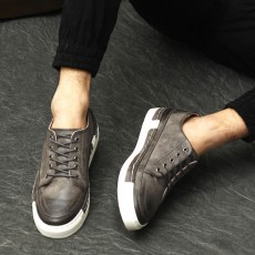 รองเท้าหนังผู้ชาย แฟชั่นเกาหลีloaferลำลองมีเชือก นำเข้า ไซส์39ถึง43 สีเทา - พรีออเดอร์MA5600 ราคา2500บาท
