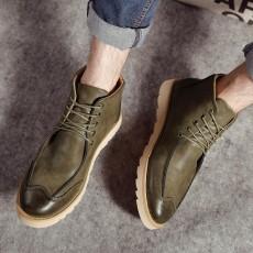 รองเท้าหนังผู้ชายหุ้มข้อ แฟชั่นบู๊ทสไตล์เกาหลีลำลองมีเชือก นำเข้า ไซส์39ถึง44 สีกากี - พรีออเดอร์MA5601 ราคา2700บาท