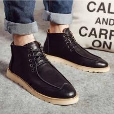 รองเท้าหนังผู้ชายหุ้มข้อ แฟชั่นบู๊ทสไตล์เกาหลีลำลองมีเชือก นำเข้า ไซส์39ถึง44 สีดำ - พรีออเดอร์MA5601 ราคา2700บาท