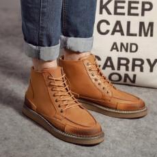 รองเท้าบู๊ทผู้ชาย หุ้มข้อหนังลำลองแฟชั่นเกาหลีสไตล์มาร์ติน นำเข้า ไซส์38ถึง44 สีน้ำตาล - พรีออเดอร์MA5603 ราคา2900บาท