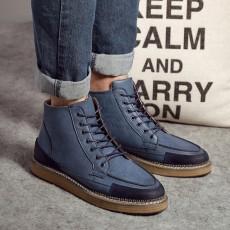 รองเท้าบู๊ทผู้ชาย หุ้มข้อหนังลำลองแฟชั่นเกาหลีสไตล์มาร์ติน นำเข้า ไซส์38ถึง44 สีน้ำเงิน - พรีออเดอร์MA5603 ราคา2900บาท