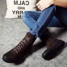 รองเท้าบู๊ทผู้ชาย หุ้มข้อหนังแท้แฟชั่นเกาหลีมาร์ตินวินเทจ นำเข้า ไซส์38ถึง43 สีน้ำตาล - พรีออเดอร์MA5604 ราคา3700บาท