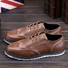 รองเท้าหนังผู้ชาย แฟชั่นเกาหลีloaferลำลองมีเชือก นำเข้า ไซส์39ถึง43 สีน้ำตาล - พรีออเดอร์MA5605 ราคา2500บาท