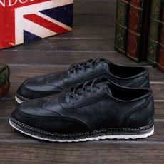 รองเท้าหนังผู้ชาย แฟชั่นเกาหลีloaferลำลองมีเชือก นำเข้า ไซส์39ถึง43 สีดำ - พรีออเดอร์MA5605 ราคา2500บาท