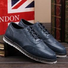 รองเท้าหนังผู้ชาย แฟชั่นเกาหลีloaferลำลองมีเชือก นำเข้า ไซส์39ถึง43 สีน้ำเงิน - พรีออเดอร์MA5605 ราคา2500บาท