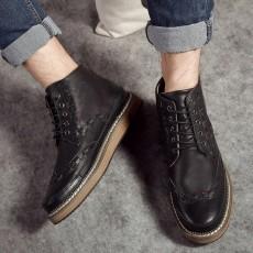 รองเท้าบู๊ทผู้ชาย หุ้มข้อหนังลำลองแฟชั่นเกาหลีสไตล์มาร์ติน นำเข้า ไซส์39ถึง44 สีดำ - พรีออเดอร์MA5606 ราคา2900บาท