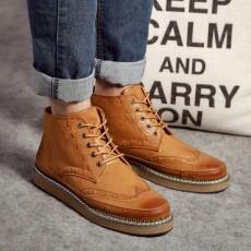 รองเท้าบู๊ทผู้ชาย หุ้มข้อหนังลำลองแฟชั่นเกาหลีสไตล์มาร์ติน นำเข้า ไซส์39ถึง44 สีน้ำตาล - พรีออเดอร์MA5606 ราคา2900บาท