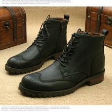 รองเท้าบู๊ทผู้ชาย หุ้มข้อหนังแท้แฟชั่นเกาหลีมาร์ตินวินเทจ นำเข้า ไซส์38ถึง44 สีดำ - พรีออเดอร์MA5607 ราคา3500บาท